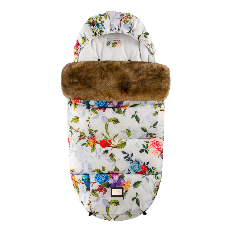 Designer-Fußsack mit Blumenmotiv