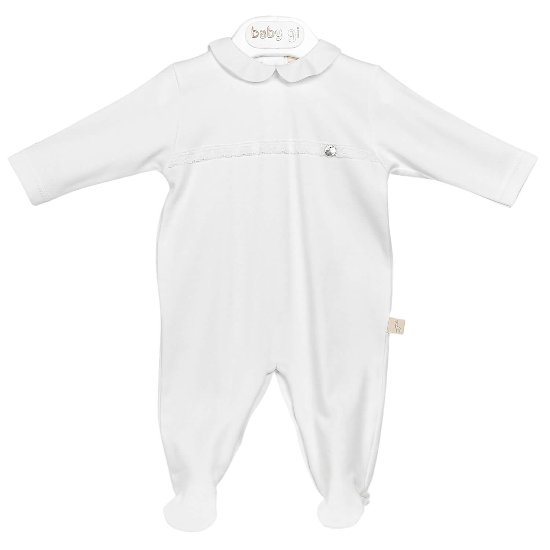 Weißer klassischer Babyanzug