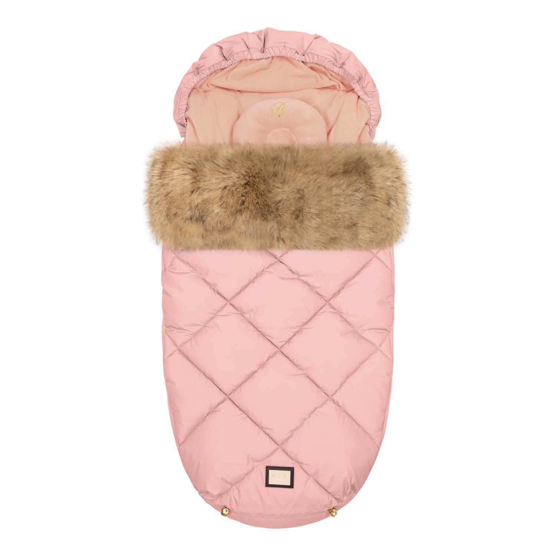 Luxuriöser rosa Diamantfußsack