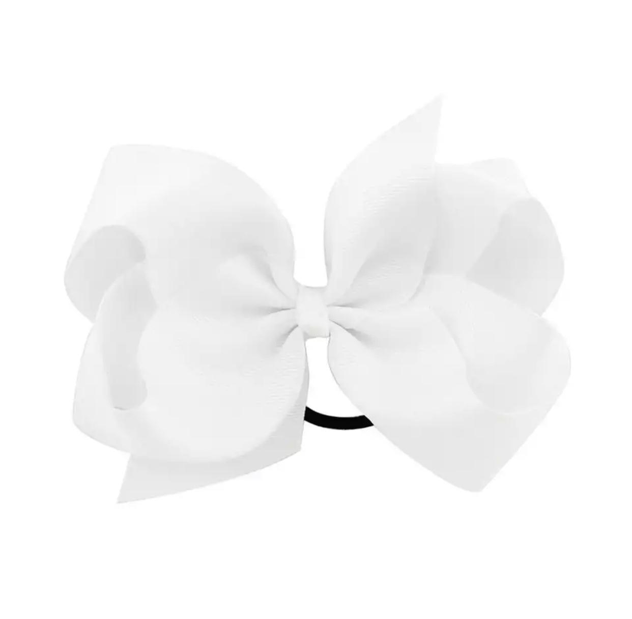 Haarschleife XL weiß