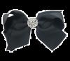 Haarspange mit Strass schwarz